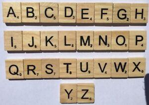 Craft Scrabble Tiles - Natural - 26 Pieces - New