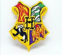 Harry Potter Hogwarts Yellow Embroidered Iron Sew on Patch j1172