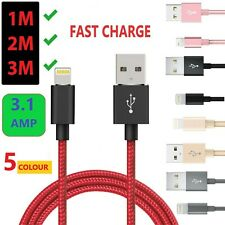 2M 3M Long Braided USB Lightning Fast charger cable iphone 11 Pro Xr X Xs Max 8