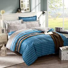 American Style 100% Cotton Queen Size Quilt Doona Duvet Blanket Cover Pillowcase