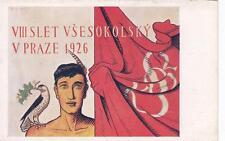 A8748) CECOSLOVACCHIA, 8 SLET VSESOKOLSKI V PRAZE 1926.