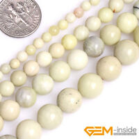 Natural Australia Beige Butter Jasper Round Beads For Jewelry Making Strand 15""
