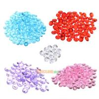 500pcs 10mm Transparent Acrylic Awl Diamond Wedding Table Party Decration #ORP