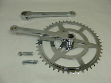"""VINTAGE BICYCLE 48 TOOTH 1/8"""" COTTERED CHAINSET WITH 2 COTTER PINS"""