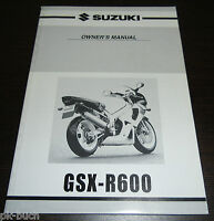 Owner ´S Manual Suzuki GSX-R600 Stand 08/2000