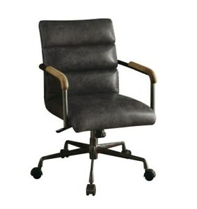 Acme Furniture Harith Executive Office Chair In Antique Slate Top Grain Leather