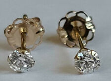 Tiny Childs 3mm Round Cubic CZ Stud Earrings Round 14k Yellow Gold Starter WOW