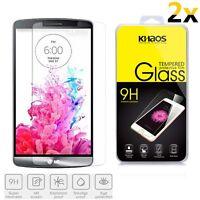 2x KHAOS Premium Tempered Glass Screen Protector For LG G3 D850 D855 LS990 VS985