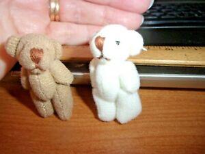 PAIR OF TEDD BEARS -  JOINTED   -  WORLD OF MINIATURE BEARS