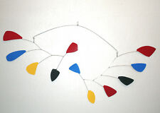 Abstract Modern Primary Colors Large Hanging Mobile Painted Museum Quality New