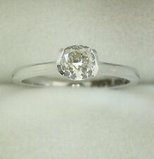 0.39 ct solitaire real diamond wedding engagement ring 18k white gold ring