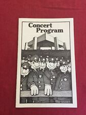 The Police Concert Program