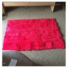 Tapis pour la Maison le Salon la Chambre Tapis de Peluches rouge 40 x 40cm Q9H2