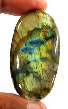 95.90 Ct Natural Labradorite Loose Gemstone Cabochon Wire Wrap Stone - R6390