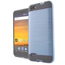 For ZTE WARP 8 / BLADE FORCE N9517 - Hybrid Brushed Armor Hard Rubber Case Cover
