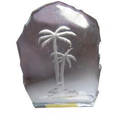 Decorativo de vidrio sólido peso del papel-palmeras Diseño-Tamaño 135mm X 100mm