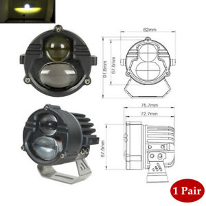 1 Pair 60W 6000K DC9V-85V Motorcycle Car External LED Headlights Universal Part