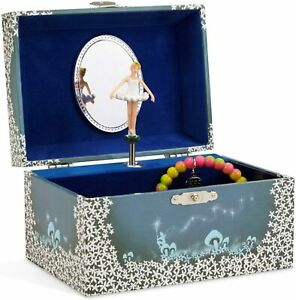 Twirling Dancing Ballerina Jewelry Storage Music Box Mirror Swan Lake Keepsake