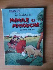 LES AVENTURES DE MIMILE ET MINOUCHE album n° 1 : LES DEUX JUMEAUX recue