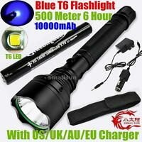 BLUE LIGHT SMALL SUN 2000lumen CREE XM-L XML T6 LED FLASHLIGHT TORCH LAMP +18650