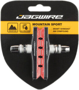 Jagwire Mountain Sport V-Brake Pads Threaded Post Red All Weather Compound