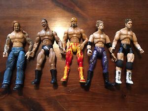 WWE Jakks Pacific Action Figure Lot of 5 Vintage (Lot E)