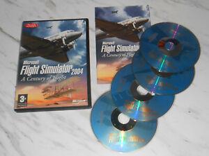 Microsoft FLIGHT SIMULATOR 2004 Pc Cd Rom FS2004 MSFS A Century Of Flight UK