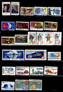 1975 COMMEMORATIVES 25 Stamps #1553-90 US Set Used