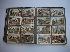 Old German 'Reklame Marken' Album including approx 100 Vintage Liebig Cards
