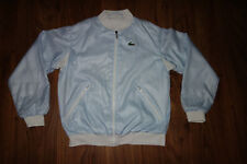 VINTAGE LACOSTE JACKET, WHITE WITH STRIPED BLUE,  VERY GOOD CONDITION, SIZE M