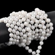 5M 8mm Perlenkette Perlenband weiß imitation Perlenschnur Hochzeit Party Deko