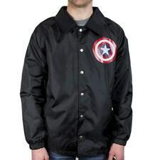 77291198287 Mens Marvel Captain America Coach s Jacket Windbreaker Rainwear NWT S