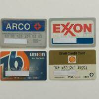 4 Expired Credit Cards For Collectors - Gas Station Lot