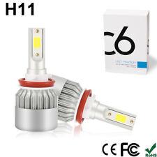 2x CREE H11 LED HEADLIGHT KIT H8 H9 1200W 168000LM COB HIGH BEAM BULBS 6500K US