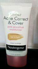 NEW! Neutrogena Acne Correct & Cover Pink Grapefruit Moisturizer Fair-Light/NB