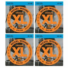4 SETS D'Addario EXL110 Electric Guitar Strings Nickel Regular 10-46