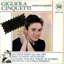 """Gigliola Cinquetti - Canta En Español - Import - 7"""" Record Single"""