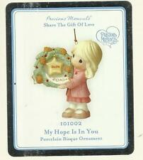 Precious Moments My Hope is in You Porcelain Ornament 101002 2010 NIB