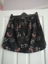 Next Petite Linen blend floral print skirt size 12with side pockets