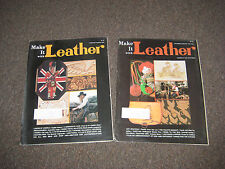 Make It With Leather  Issues Dec.- Jan.1975-1976 and Feb.- March issue 1976