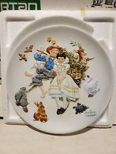 """Norman Rockwell """"sweet song so young"""" plate from 1955 by gorman U.S.A."""