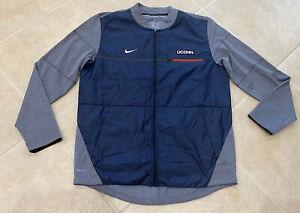 Uconn Connecticut Huskies Nike Full Zip Storm Jacket Mens Large $110 Navy