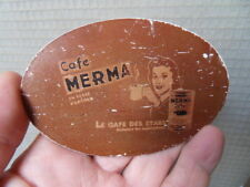 Tin plate sign advertising plaque tole deco pub Café MERMA le café des stars