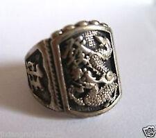 Rare Vintage Tibet Tribal dragon wealth men's luck ring