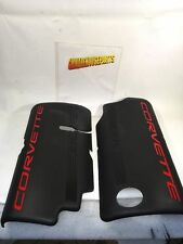 "1999-2004 LS1 FUEL RAIL COVERS W/ RED ""CORVETTE""  LETTERING NEW GM 12561502"