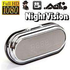 1080P HD Wireless Remote Hidden Cam Spy Camera Alarm Clock DVR Motion Detection