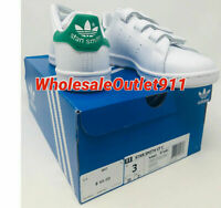 New Adidas Little Kids Originals Stan Smith Size 3 Sneakers Casual Shoes Leather