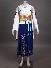 Custom-Made Final Fantasy 10 Yuna Cosplay Summon Costume Women Kimono @GHF