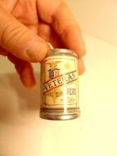 older miniature Veteran's Peas cardboard replica tin can (1988)