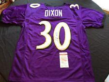 Kenneth Dixon Signed Baltimore Ravens Purple Custom Jersey JSA Witness